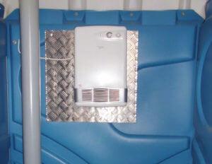 Abbildung des Heizlüfters (Frostwächter) für mobile WC-Kabinen
